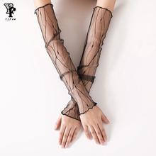 Black Mesh Sleeve Womens Sexy Thin Gloves Summer  Gloves Driving  Guantes Conducir Guantes Decuero Mujer