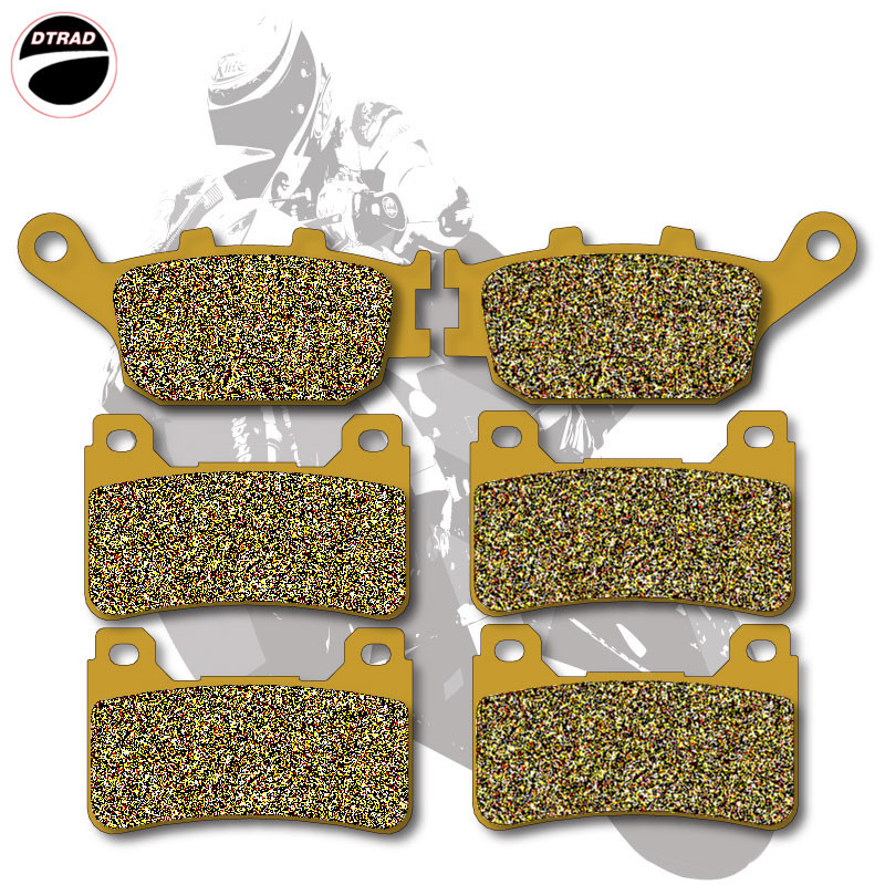 Motorcycle Brake Pads Front+Rear For HONDA CBR 600 RR 2005-2006 CBR 1000 RR 2004-2005 mfs motor motorcycle part front rear brake discs rotor for yamaha yzf r6 2003 2004 2005 yzfr6 03 04 05 gold