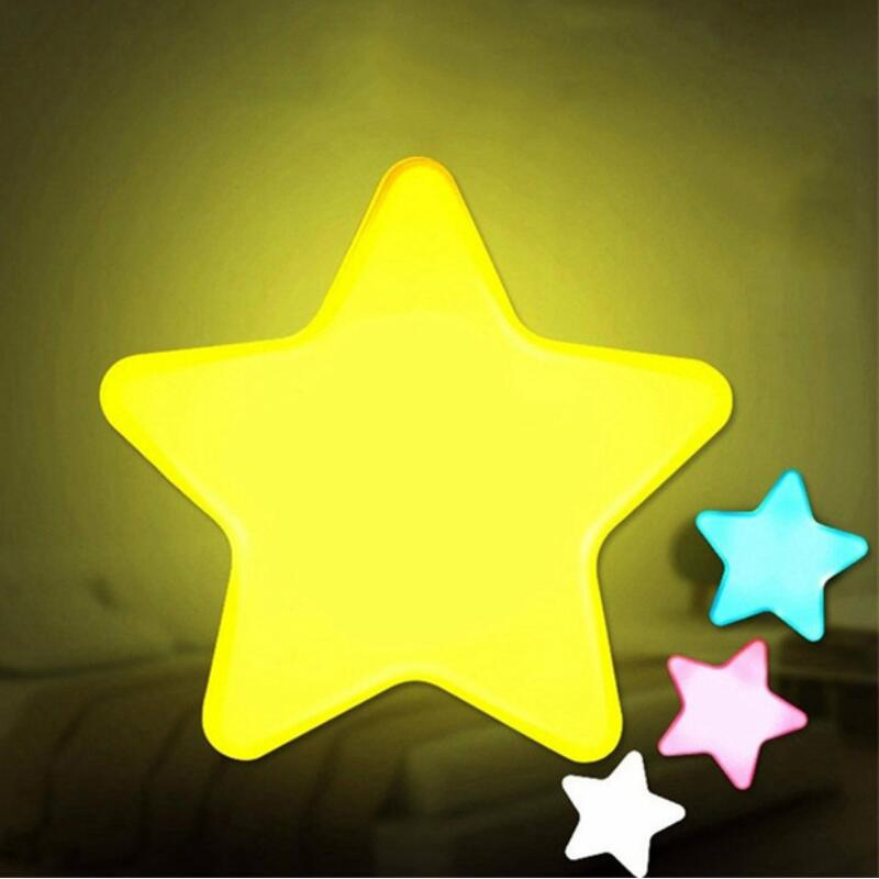 Honesty Novelty Children Led Light Mini Star Flashlight Ac110/220v Pulg-in Wall Socket Bedside Lamp Eu/us Light Sensor Control Lamp Self Defense Supplies