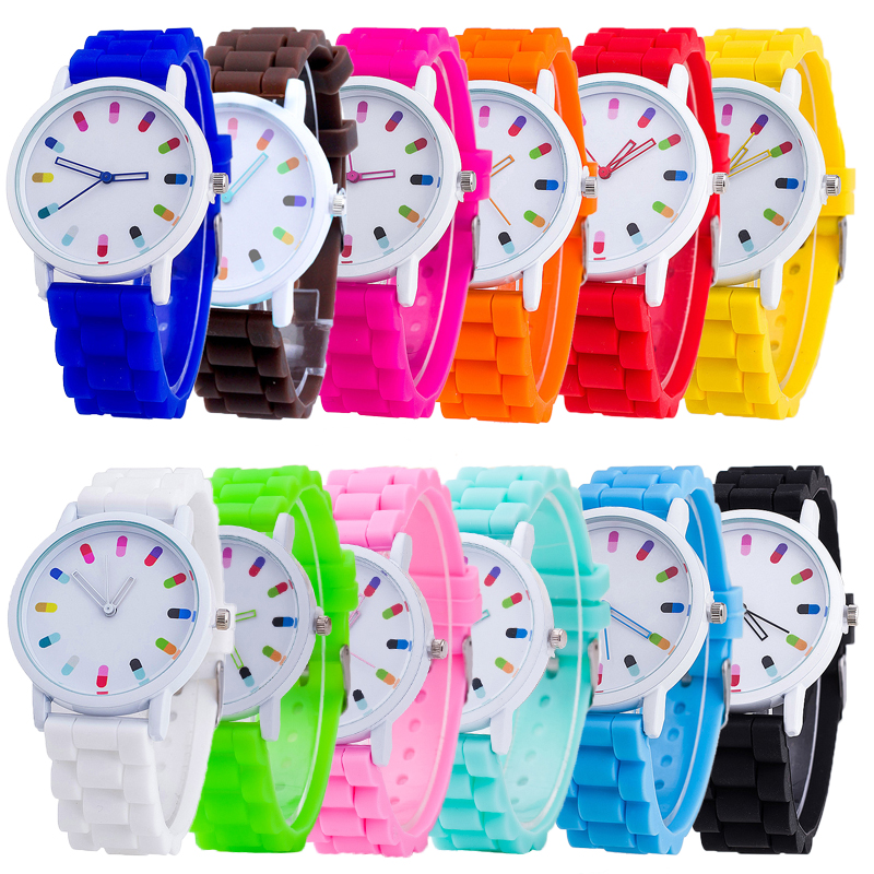 Women Girl Student Silicone Jelly Band Casual Sport Watch Colorful Candy Quartz Analog Bracelets Watches Relogio Feminino Gift children watches sports watch cute quartz watch analog cartoon dancing girl silicone watch band kids student girl boy gift