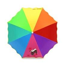 Cute Lovely Umbrella Cartoon Dog Girls Rainbow Colour Changing Parasol Garden Bulldog Frances Parapluie Cancan 50KO083