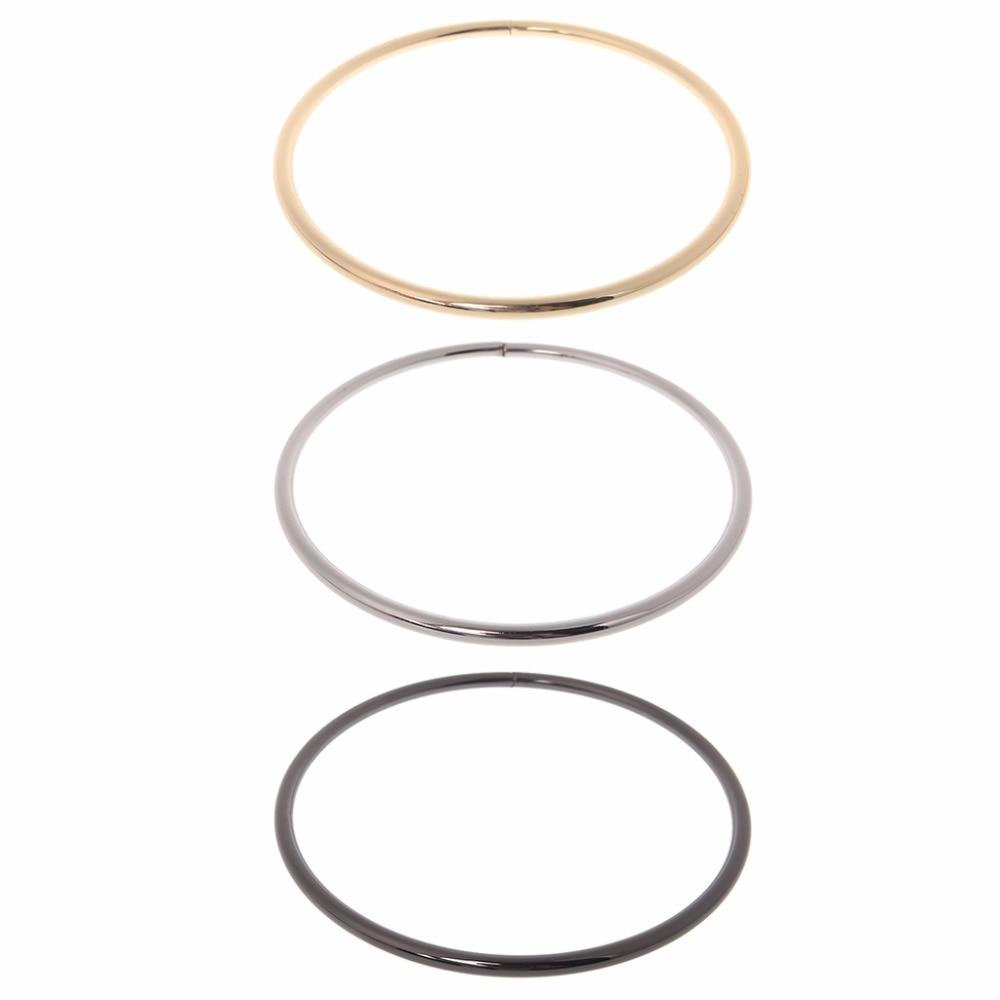 THINKTHENDO 12.5cm Metal O Ring For Webbing Belt Buckle Handbag Strap Bag  Accessories