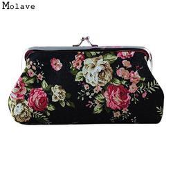 Наивность Для женщин Hasp портмоне новый леди Винтаж цветок маленький кошелек клатч хороший подарок для JUL28 Перевозка груза падения