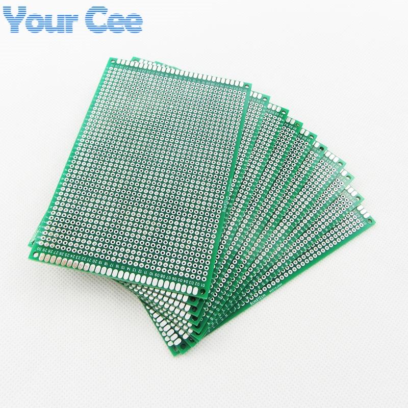 Image 2 - 10 pcs 8X12cm 8*12cm Double Side Prototype pcb Breadboard Universal Printed Circuit Board for Arduino 1.6mm 2.54mm Glass Fiberpcb cloningpcb boradboard hdmi -