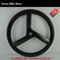 Hot sale tri spoke road wheel carbon 3 spoke wheels 700c fixied gear wheel 3spoke bike track wheel