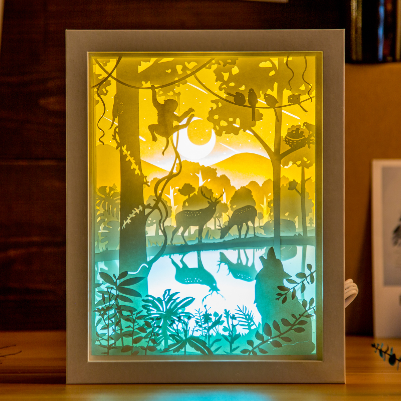 Kingneonlux Light And Shadow Paper Carved Lights Forest
