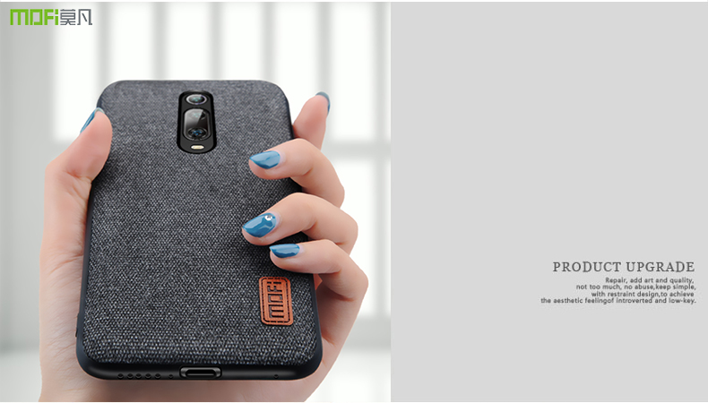 HTB1ACGfaRGE3KVjSZFhq6AkaFXag for Xiaomi Mi 9T Pro case cover protective fabric cloth silicone back capas MOFi original global Mi9T business case