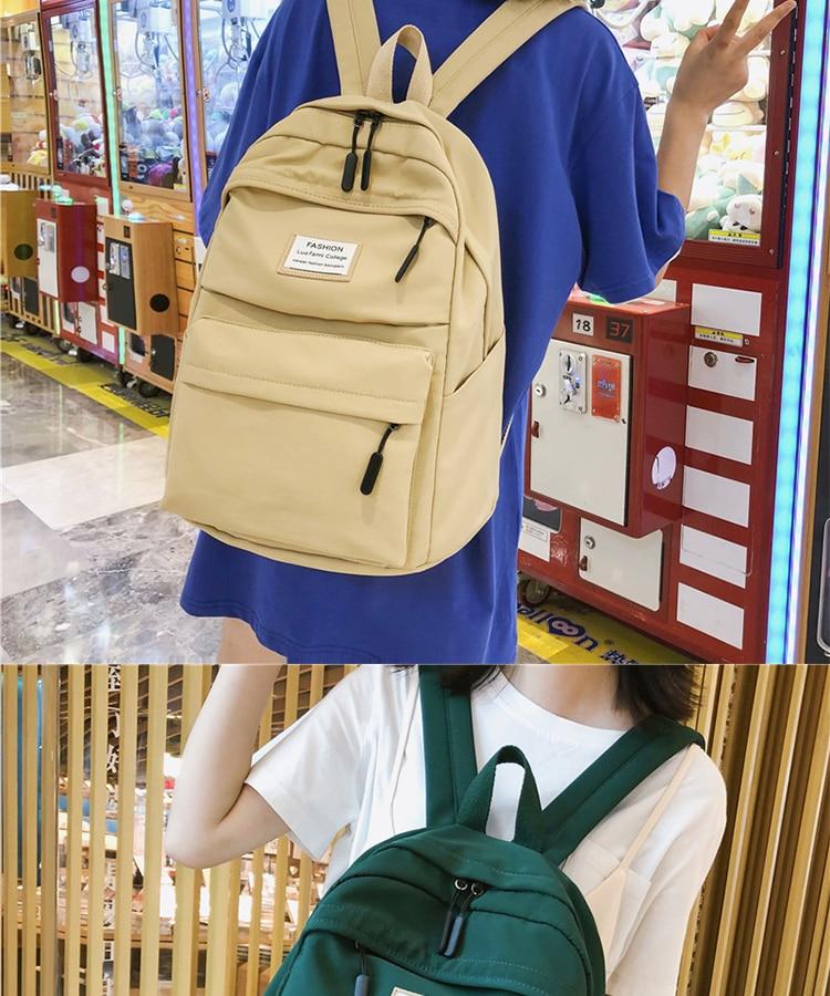 HTB1ACGha8Kw3KVjSZFOq6yrDVXa5 2019 New Backpack Women Backpack Fashion Women Shoulder nylon bag school bagpack for teenage girls mochila mujer