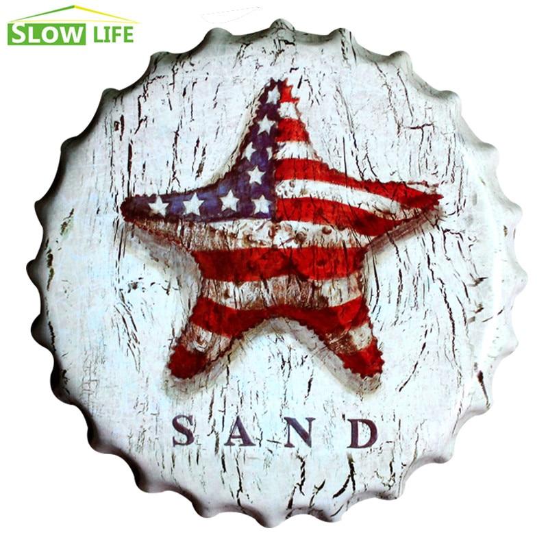 2017 New USA Sand Bottle Cap Metal Tin Sign Vintage Home Decor Tin Sign Wall Decor Metal Sign 3D Wall Decor Metal Plaque