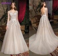 Vestige De Noiva Long Sleeve Lace Wedding Dresses Tulle Plus Size Weddingdress China Weding Bride Bridal Gowns Weeding Dress