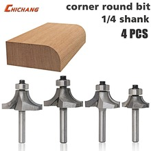 4pc 1 4 Shank Round Over font b Router b font Bits for wood Woodworking Tool