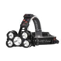 5 Heads Long Shot Emergency LED Headlamps Outdoor Waterproof Camping Fishing Headlights Working Spotlight Safety Mining Lamp