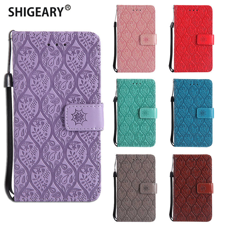 Case sFor <font><b>Motorola</b></font> Moto <font><b>E4</b></font> Plus Case Shigeary Phone Cases For Coque Moto <font><b>E4</b></font> <font><b>XT1762</b></font> XT1771 Flip Wallet Cover Capa Fundas Housing image