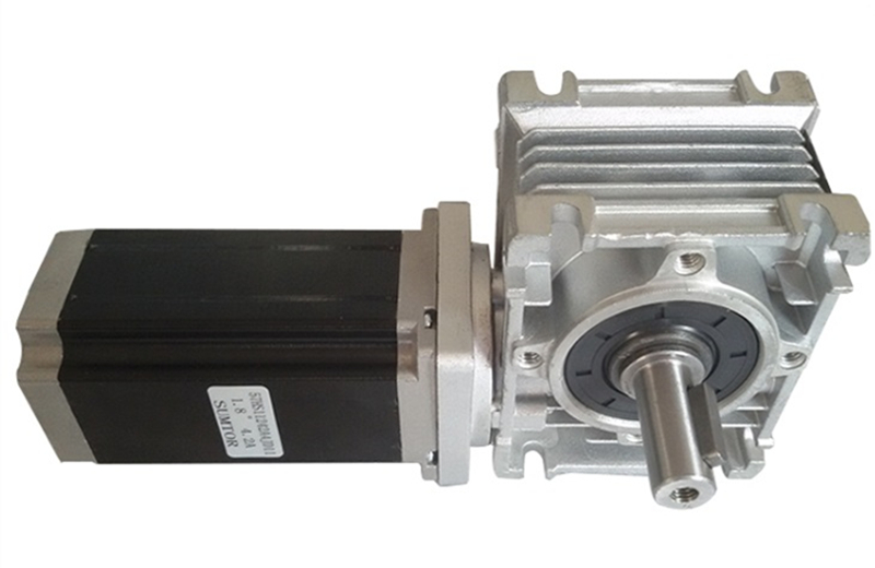NMRV30 Worm Gearbox Geared NEMA23 3NM Stepper Motor Ratio 7 5 1 with single output shaft