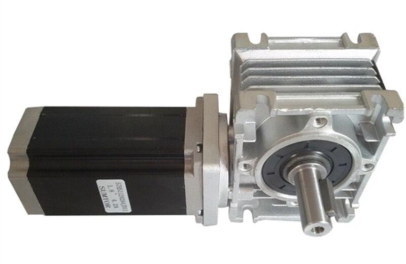 NMRV30 WORM Boîte Geared NEMA23 3NM Stepper Moteur Ratio 7.5: 1 avec arbre de sortie unique