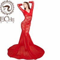 Leechee Q884 ladies sexy lingerie temptation hollow out erotic underwear lenceria sexy charming robe perspective porn costumes