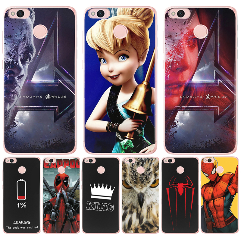 king Avengers Deadpool For <font><b>Xiaomi</b></font> Redmi <font><b>Mi</b></font> 3S Pro 4X 4A 5A 5 Plus Note 3 4 6 Pro 6A A1 5X A2 6X <font><b>Lite</b></font> <font><b>8</b></font> Pocophone F1 Case Cover image