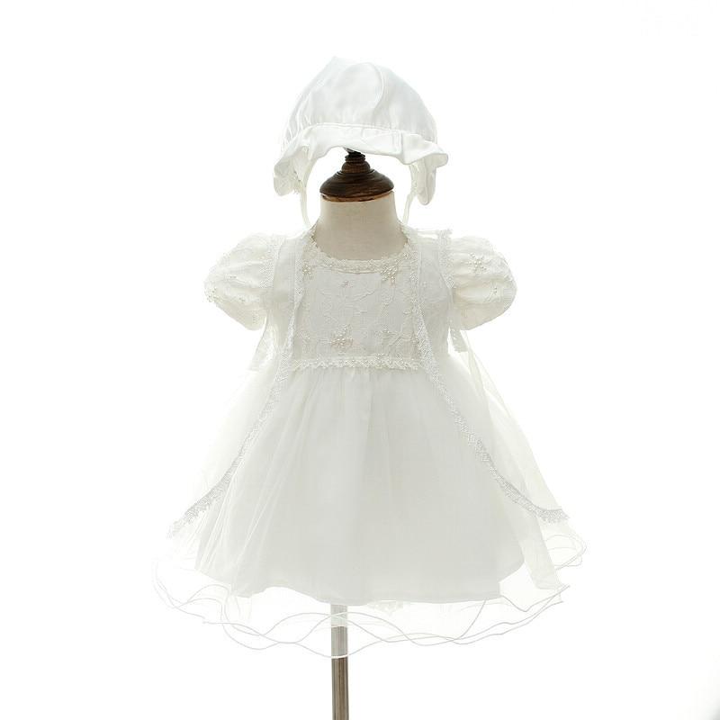 3pcs Set Odjeća Jedna Godišnja Djevojčica Krštenje Haljina - Odjeća za bebe