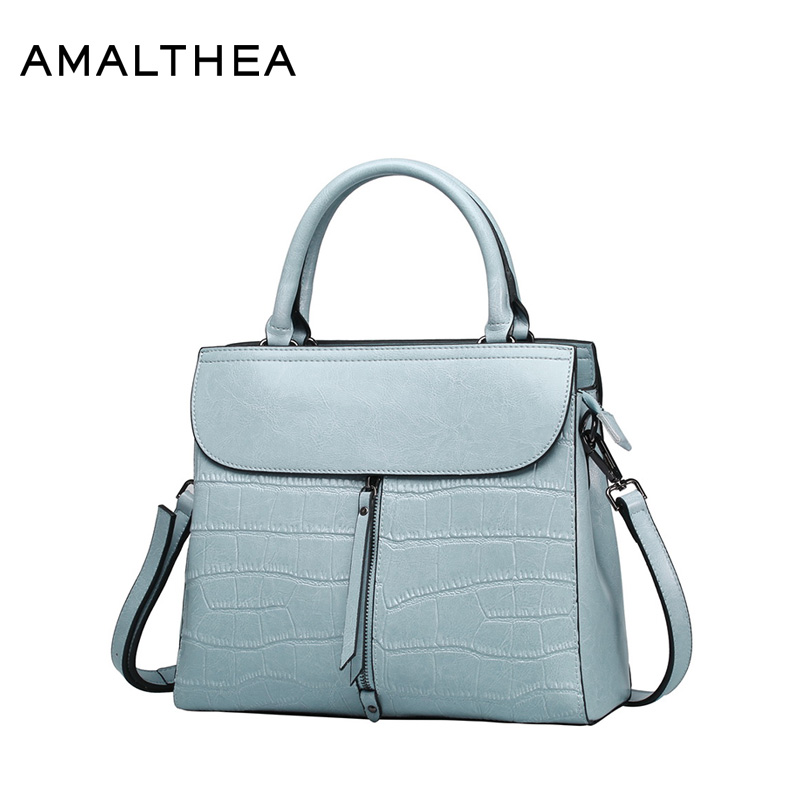 цена на AMALTHEA Brand Split Leather Bags Women Tassel Casual Tote Women'S Crossbody Bag Stone Crossbody Bags For Women Handbags AMAS043