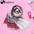 Ladybro Knit Mujeres Bufanda Pashmina Bufanda Mujer Del Abrigo de Invierno Diseñador de la Marca Lady Chales Y Bufandas Calientes Larga Franja Foulard Femme