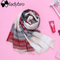 Ladybro Knit Women Scarf Winter Wrap Pashmina Scarf Female Brand Designer Lady Shawls And Scarves Warm Long Stripe Foulard Femme