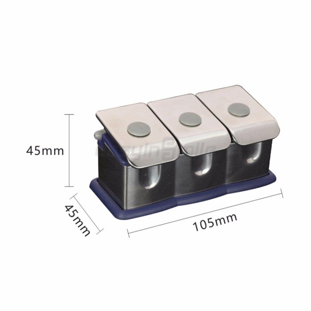 1 pz Easyinsmile Dental material Organizer In Acciaio Inox Bottiglia di Medicina Set per 3 Bottiglia di Medicina