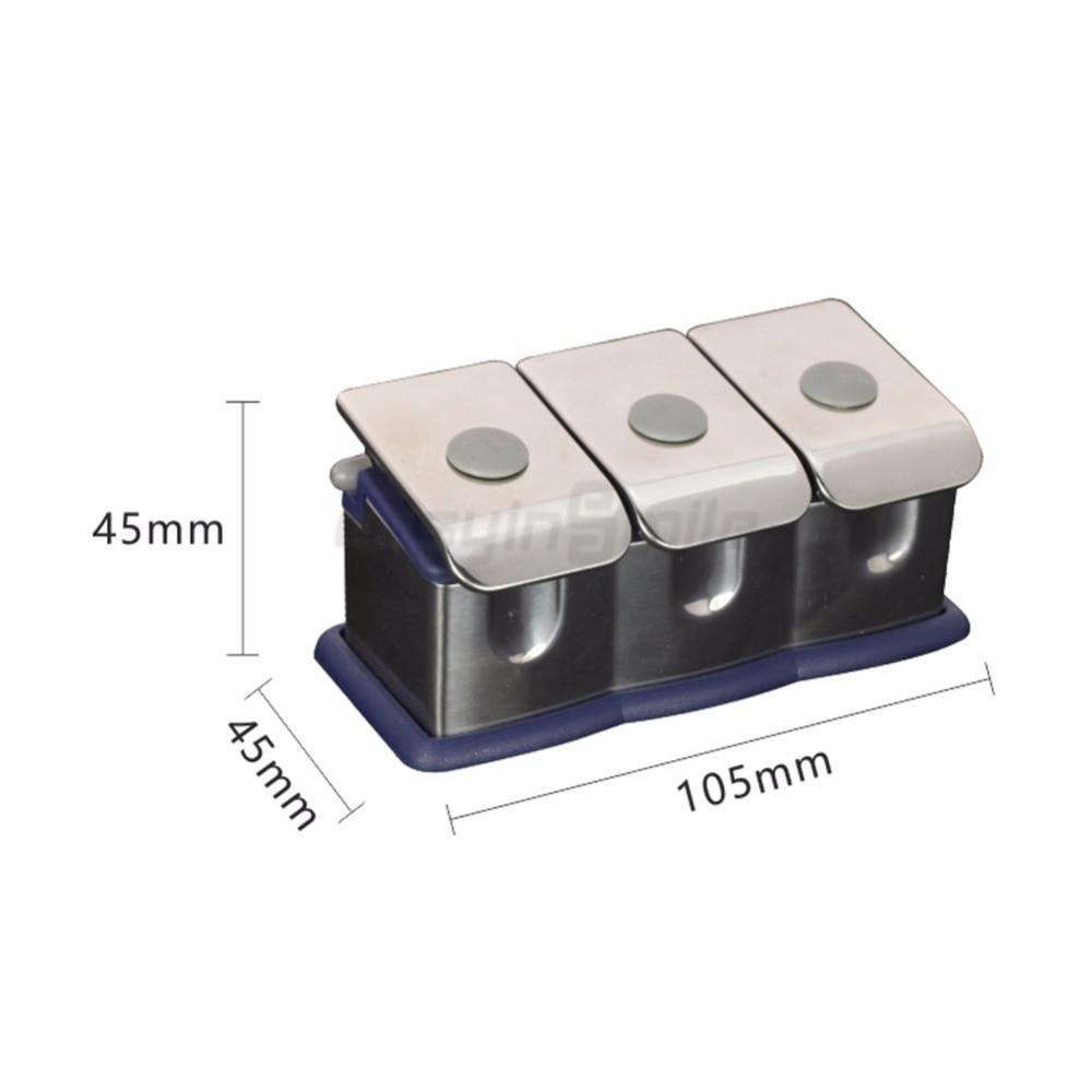 1pc Easyinsmile Dental material Organizer Stainless Steel Medicine Bottle Set for 3