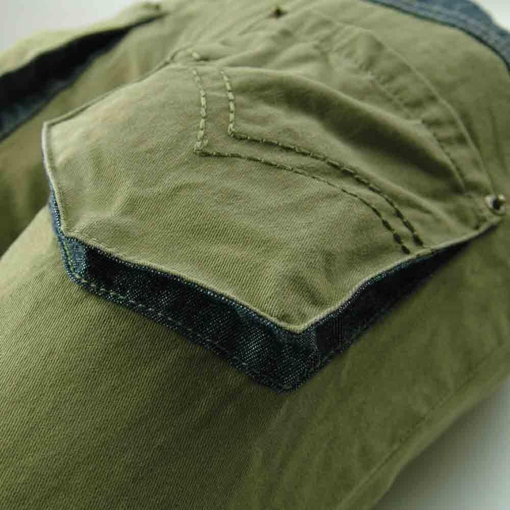 Kualitas tinggi 3-7Y Anak Army Hijau Celana garis bordir Kasual Boy - Pakaian anak anak - Foto 5