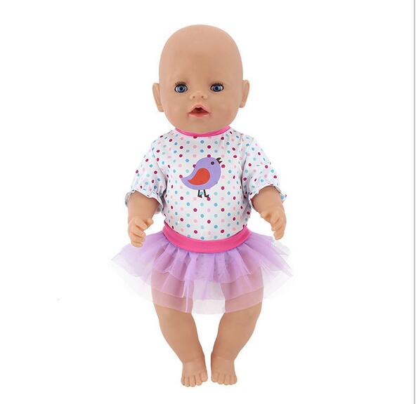 067d40e22 Purple Leisure Set Doll clothes Wear for 43cm baby born zapf Doll ...