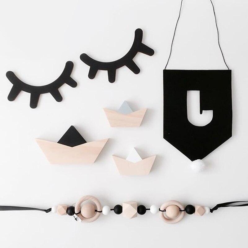 ins enfants chambre d coration 3d en bois cils mur. Black Bedroom Furniture Sets. Home Design Ideas