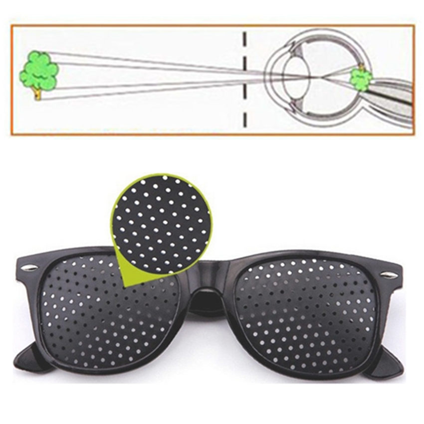 Vision Care Pin hole Sunglasses Men Women Anti-myopia Pinhole Glasses Eye Exercise Impro ...