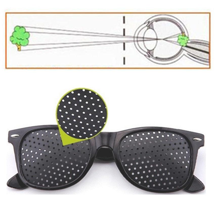 Vision Care Pin hole Sunglasses Men Women Anti-myopia Pinhole Glasses Eye Exercise Impro ...