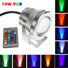 High Quality Waterproof 10W RGB LED Outdoor 16 Color Changing Flood Spot light Garden Lamp