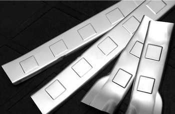 High Quality Stainless Steel Inner Door Sill Plate Trim Decoration Fit For Nissan X-Trail T31 2008 2009 2010 2011 2012 2013 4Pcs