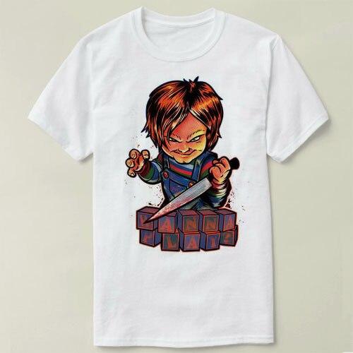 64f06266 Child's Play Chucky Tee Shirt Mens T-shirt Tops Tees Fitness Hip Hop Men  Tshirts Clothing Super Big Size cmt