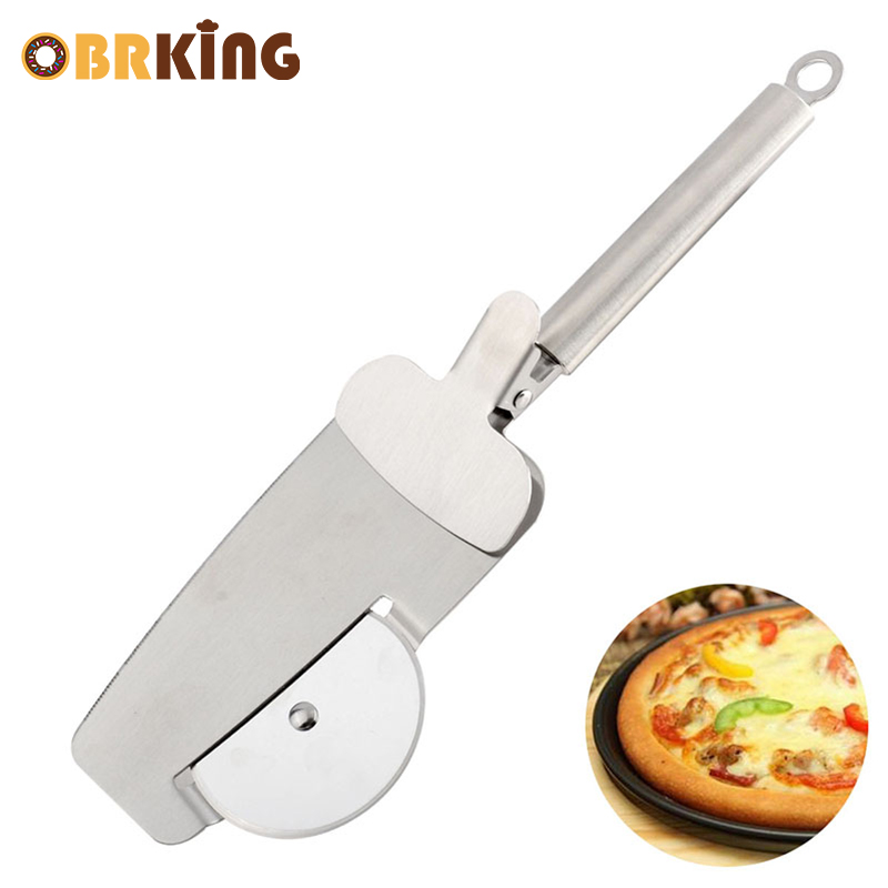 OBRKING Stainless Steel Pizza Cutter Pizza Knife Cutter Pastry Pasta Clip Pastry Dough Slicer Pizza Wheels Roller Kitchen Tool in Pizza Tools from Home Garden
