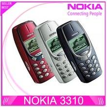 Restaurado original Nokia 3310 barato teléfono GSM desbloqueado 900/1800 with rusa menú en varios idiomas 1 year garantía