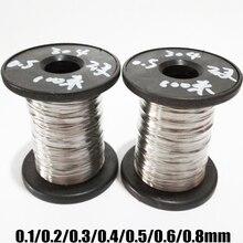 304 нержавеющая сталь Твердая Одиночная проволока стальная проволока Лифт линия 0,1 мм 0,2 мм 0,3 мм 0,4 мм 0,5 мм 0,6 мм 0,8 мм яркая проволока