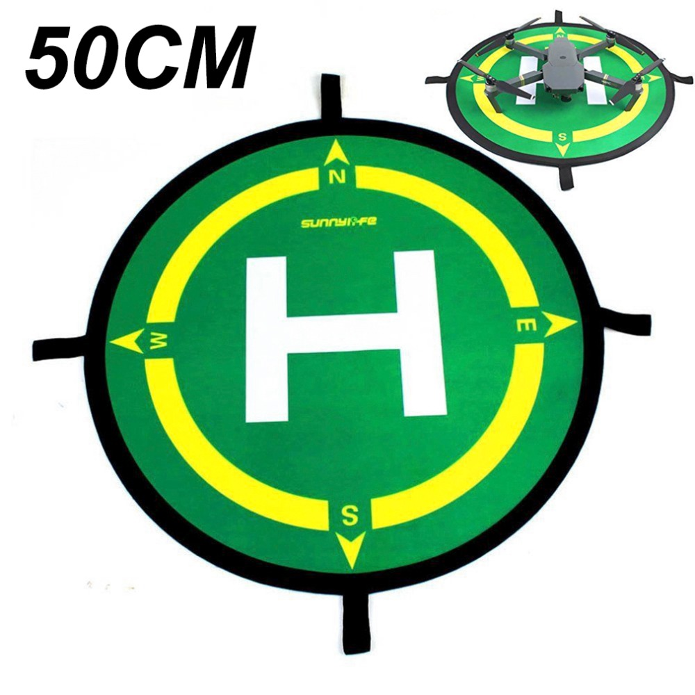 50CM Landing Pad Parking Zone Apron Helipad For DJI Mavic Pro Air Mavic 2 Zoom Spark phantom 3 4 PRO Inspire Yuneec Drone Green drone helipad