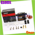 Free shipping 4x EMAX ES3001 Standard 43g Servo For RC Helicopter Boat Airplane (ES08A ES08MA ES08MD wholesale)