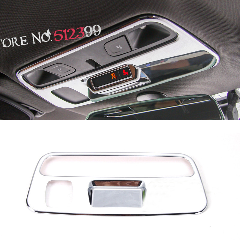 1 Pcs ABS Auto Inner Front Reading Light Roof Lamp Cover Trim For Chevrolet Camaro Sixth Gen. 2016 2017 Car Styling auto chrome camaro letters for 1968 1969 camaro emblem badge sticker