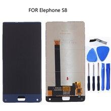 """6.0 """"affichage pour Elephone S8 moniteur LCD et écran tactile assemblée pièces de rechange + outils pour Elephone S8 mobile téléphone"""