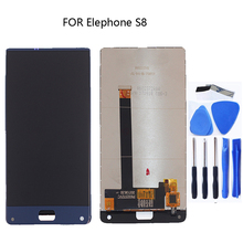 """6.0 """"display per Elefono S8 monitor LCD e touch assemblea di schermo parti di riparazione + strumenti per Elefono S8 mobile telefono"""