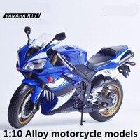 1:10合金オートバイモデル、高シミュレーション金属鋳
