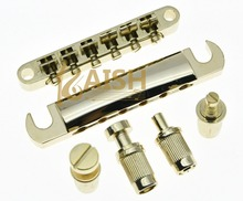 High quality Gold Electric Guitar Tune-o-matic Bridge and Tailpiece for LP