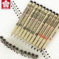 Набор японских профессиональных маркеров SAKURA с крючком  набор маркеров Pigma Point  водонепроницаемый набор ручек для рисования с граффити  муль...