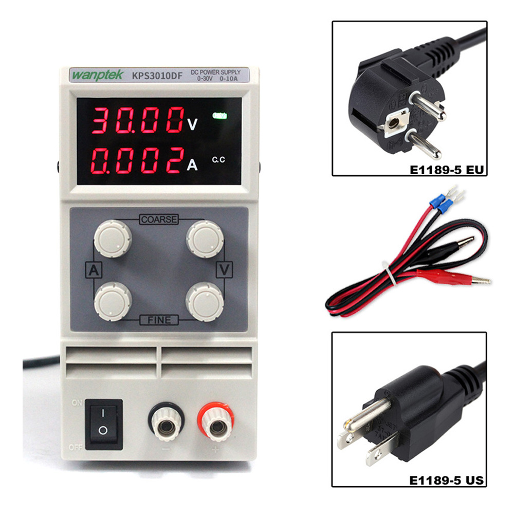 30V10A Double LED Display DC Power Supply Switch Adjustable High Precision Protection Function 0.01V 0.001A KPS3010DF30V10A Double LED Display DC Power Supply Switch Adjustable High Precision Protection Function 0.01V 0.001A KPS3010DF