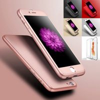 2016 New Ultra Slim Clear Front Film Hard Back PC Cover For Iphone6 6S Plus 5