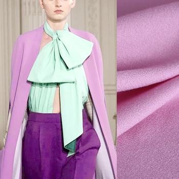 145CM Wide 390G/M Weight Solid Color Purple Lamswool Fabric for Autumn Spring Suit Dress Jacket Pants DE799