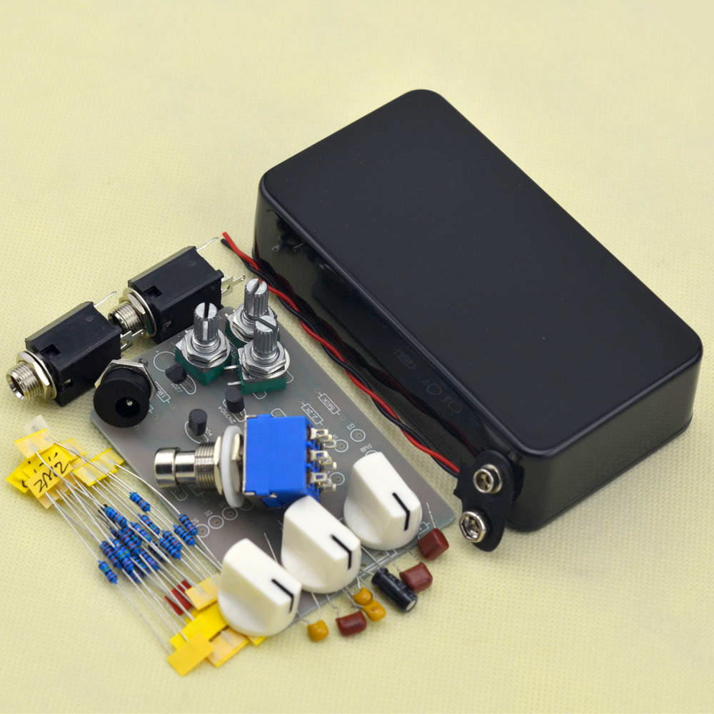 diy tremolo pedal pedal kit electric guitar effect pedals black in guitar parts accessories. Black Bedroom Furniture Sets. Home Design Ideas